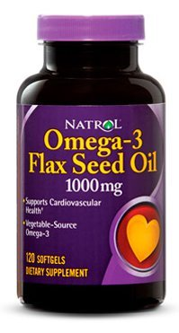Natrol Omega-3 Flaxseed Oil (120 капсул)