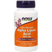 NOW Alpha-Lipoic Acid Альфа-Липоевая Кислота 600mg 60 вегкапс