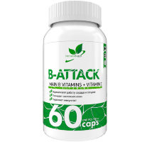 NATURALSUPP B-Attack Комплекс витаминов Б (60 капсул)